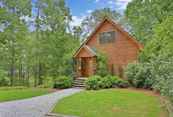 lake hartwell log cabin for sale